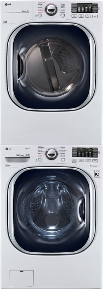 Lg Lgwadrgw4378 Stacked Washer Amp Dryer Set With Front Load