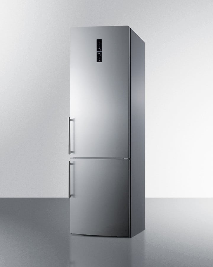 Summit FFBF181ESIM 24 Inch Bottom Freezer Refrigerator with 3 ...