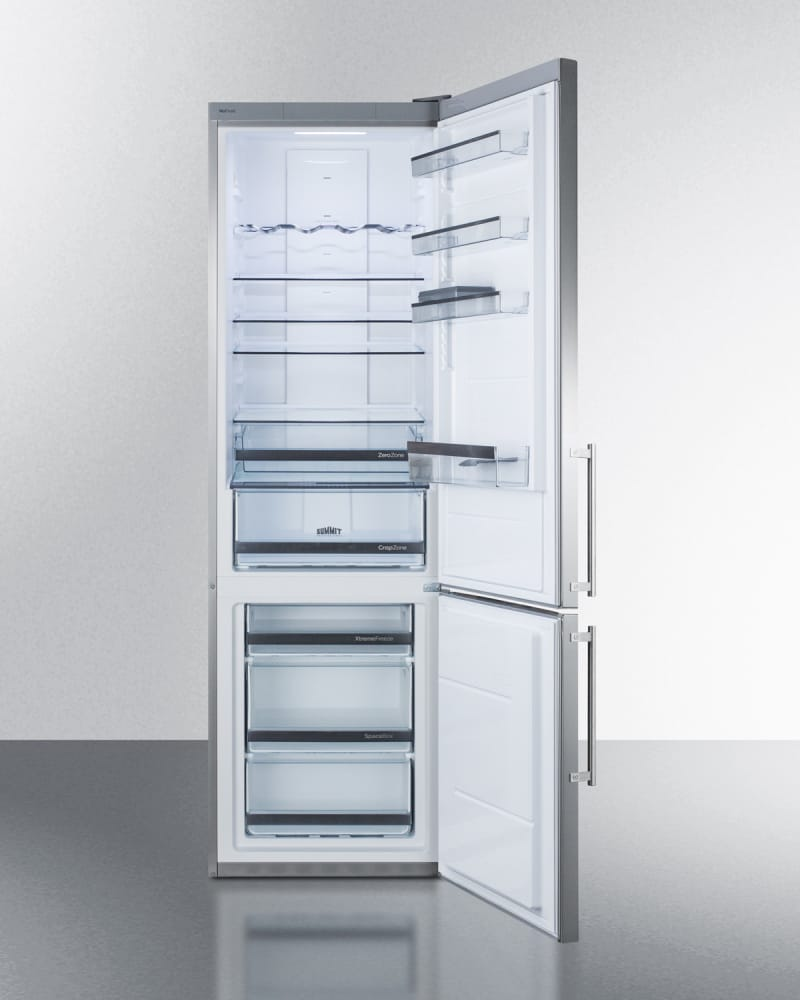 Summit FFBF181ESBI 24 Inch Built-in Bottom Freezer Refrigerator with ...