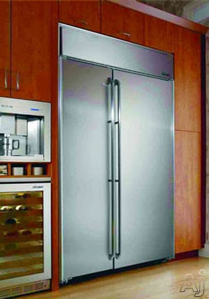 Dacor ef42bndbss 42 inch built in side by side for Dacor 42 refrigerator