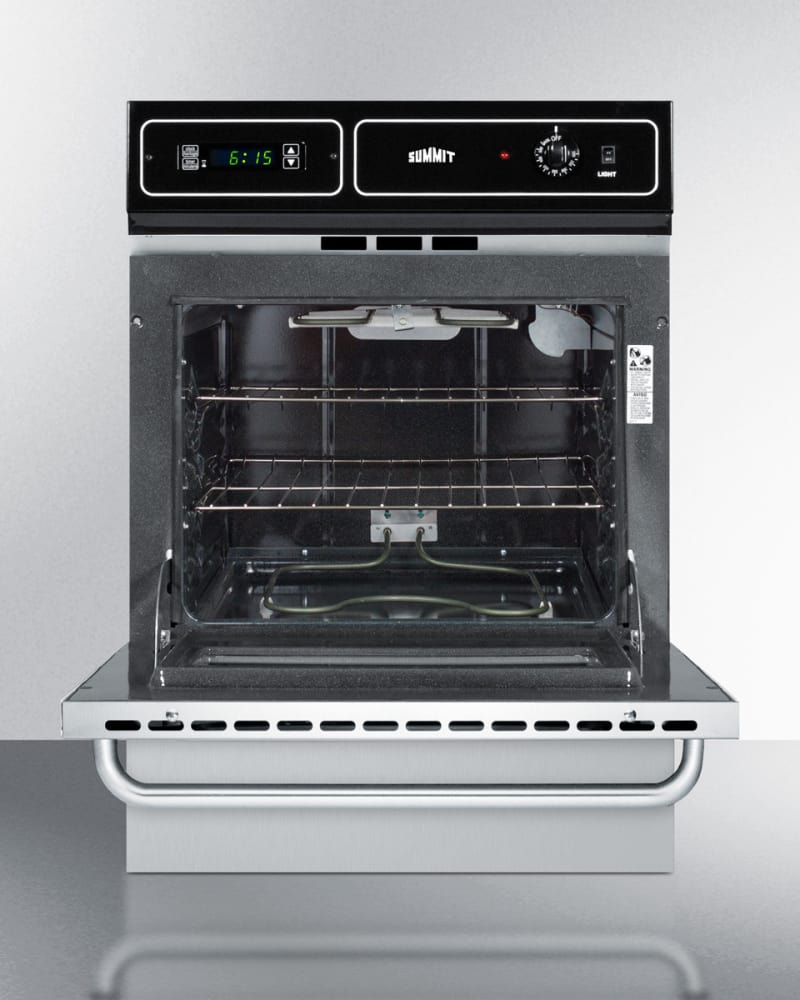 Summit Tem721bkw 24 Inch Single Electric Wall Oven With 2