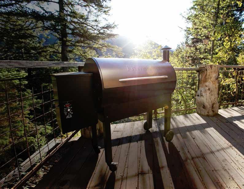Traeger tfb65lzb 54 inch freestanding wood pellet grill for Traeger smoker