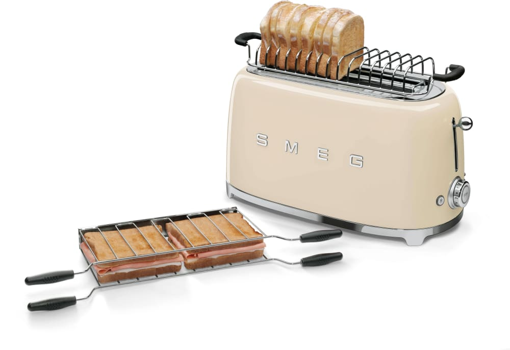 Smeg Tsf02crus Countertop Toaster With 4 Slice Capacity