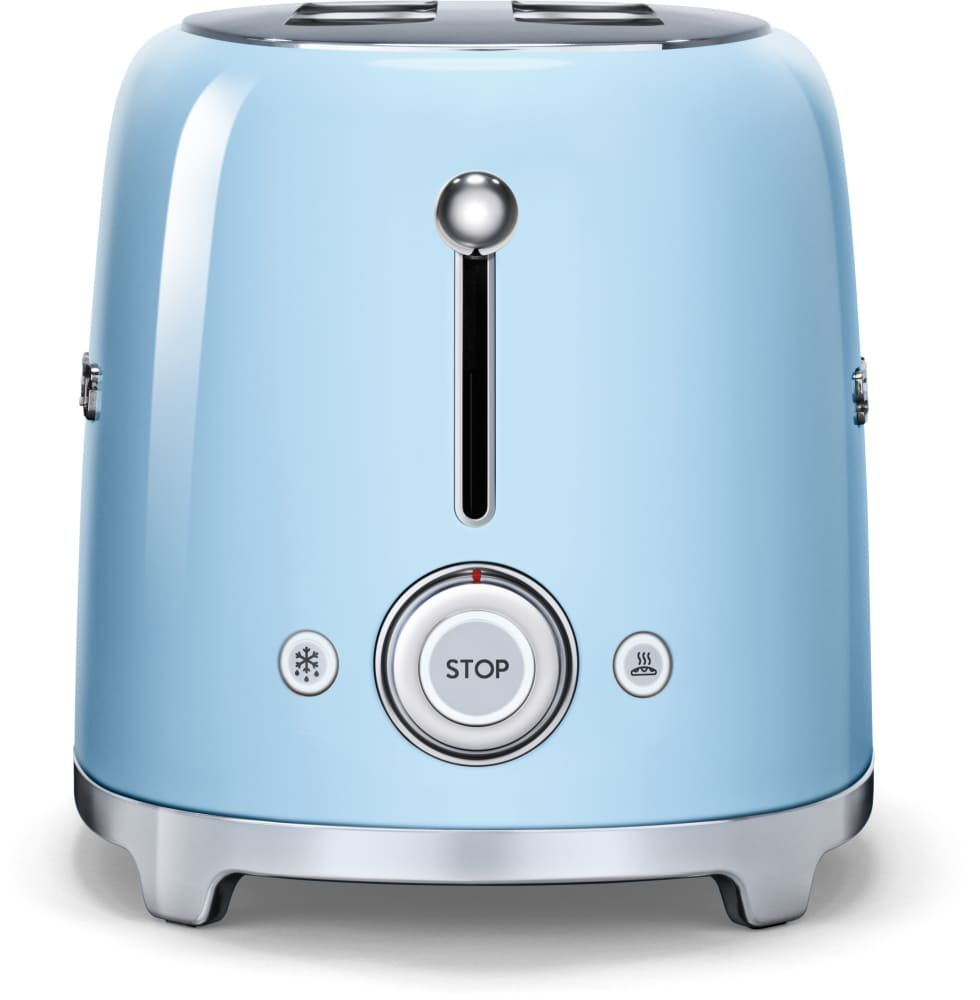 Smeg TSF02PBUS Countertop Toaster with 4 Slice Capacity Defrost