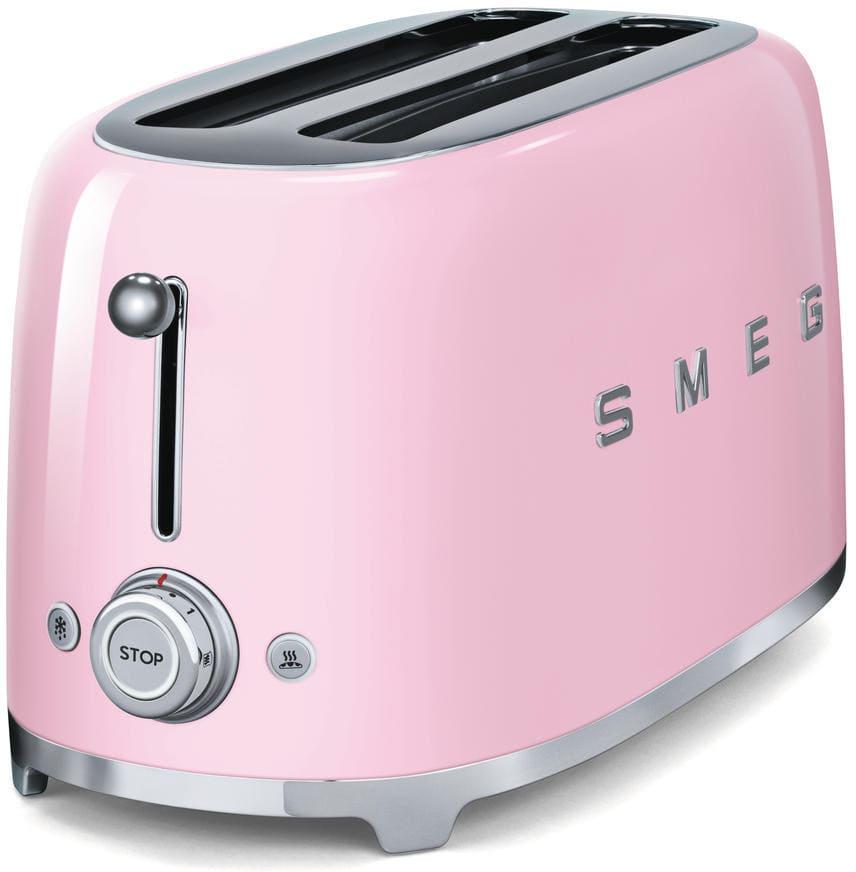 Smeg tsf02pkus countertop toaster with 4 slice capacity for Ajmadison
