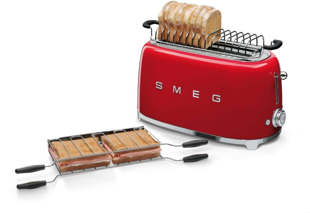 Smeg Tsf02rdus Countertop Toaster With 4 Slice Capacity