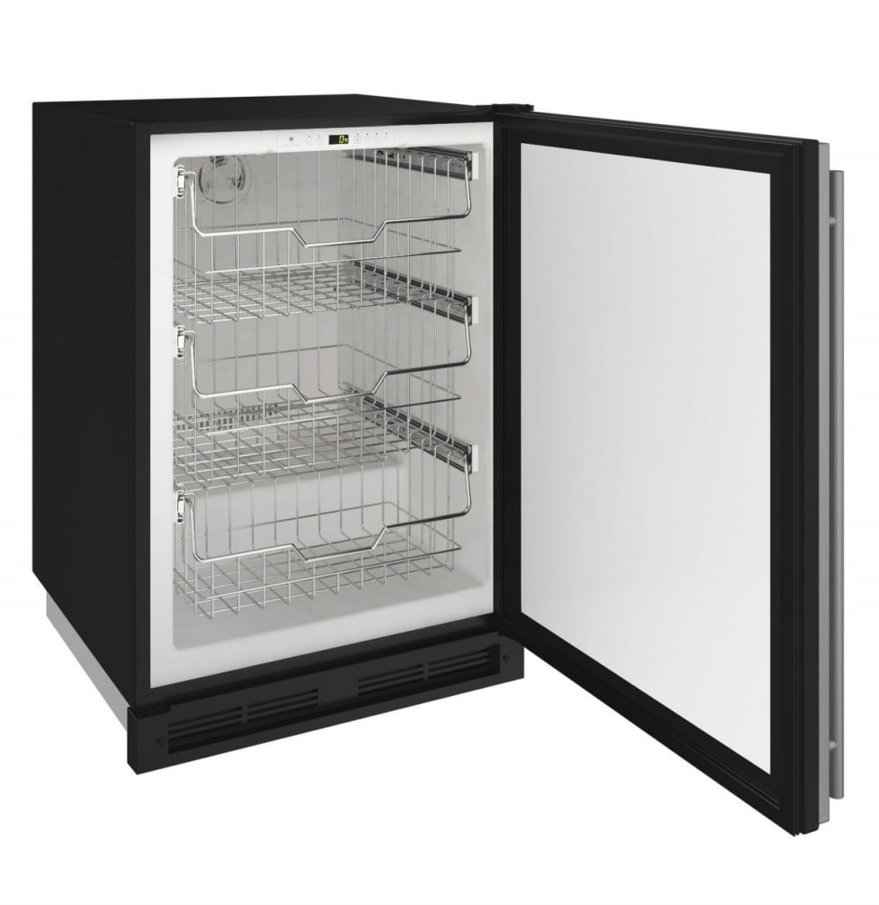 U-Line U1224FZRS00A 24 Inch Built-In Convertible Freezer with Convection Cooling System, 3
