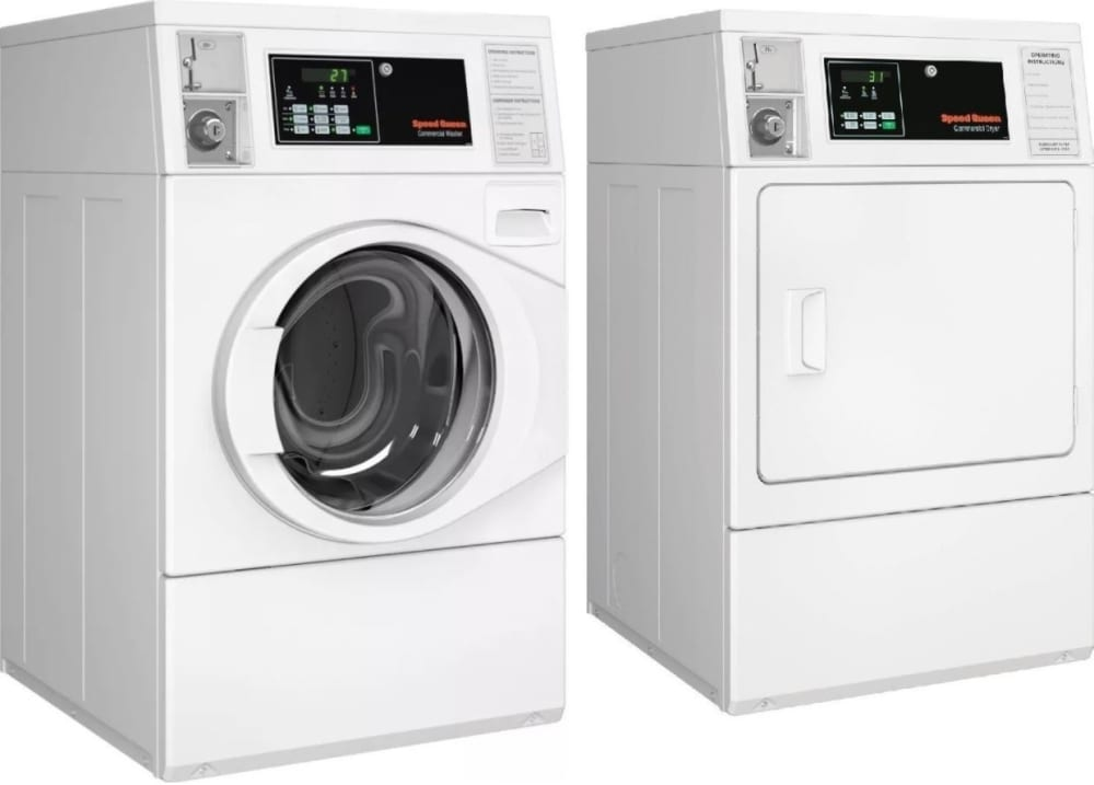 Speed Queen Sqwadrgw6 Side By Side Washer Amp Dryer Set With