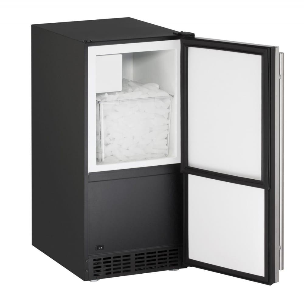 Ada Bathroom Door Swing Out u-line uada15ims00b 15 inch built-in crescent ice maker with 25