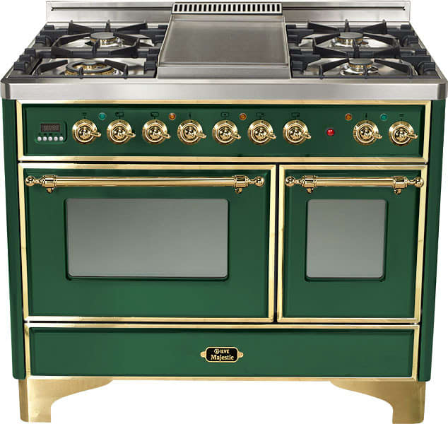 Ilve Umd1006dmp 40 Inch Freestanding Dual Fuel Range With