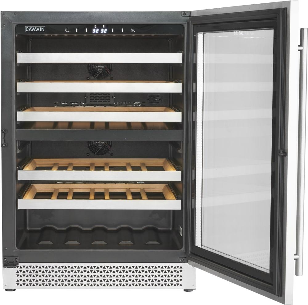Cavavin V041wdz 24 Inch Counter Depth Wine Cooler With Dual Temperature Zones Anti Uv Door Charcoal Filter Quiet Compressor Led Digital Controls