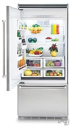 viking refrigerator inside. refrigerator from viking professional 5 series vcbb5363elss - 20.4 cu. ft. interior inside