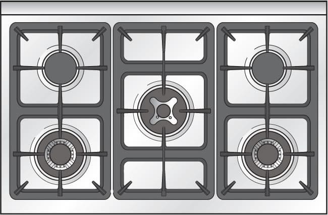 Verona Vclfsge365dss 36 Inch Pro Style Dual Fuel Range With 5 Sealed