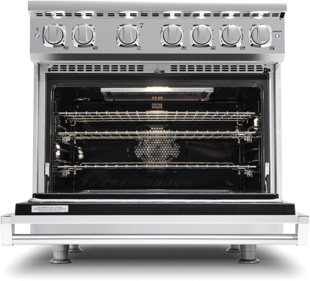 Viking VGR73614GSS 36 Inch Gas Range with Convection, ViChrome ...