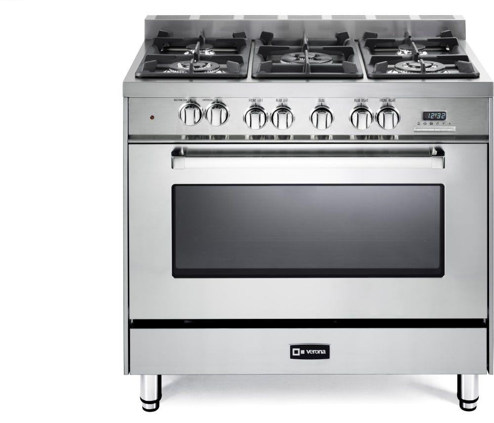 Stainless Steel Kitchen Stove Verona Vefsge365Nss 36 Inch Prostyle Dualfuel Range With 5