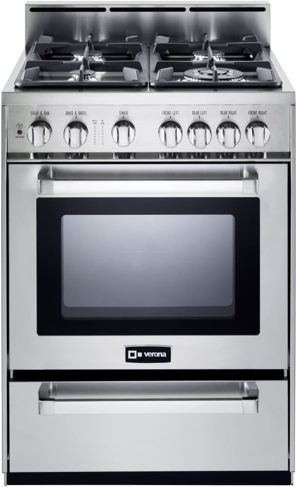 Verona Vefsgg244nss 24 Inch Pro Style Gas Range With 2 5