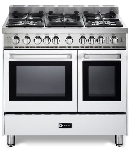 verona vefsgg365ndw 36 inch pro style gas range closeout with 3 9 cu ft total oven capacity. Black Bedroom Furniture Sets. Home Design Ideas