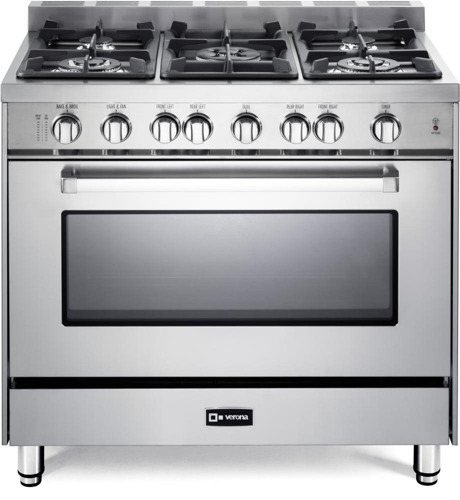 verona vefsgg365n 36 inch pro style gas range with 5 sealed burners 52 000 btu cooktop 4 0 cu. Black Bedroom Furniture Sets. Home Design Ideas