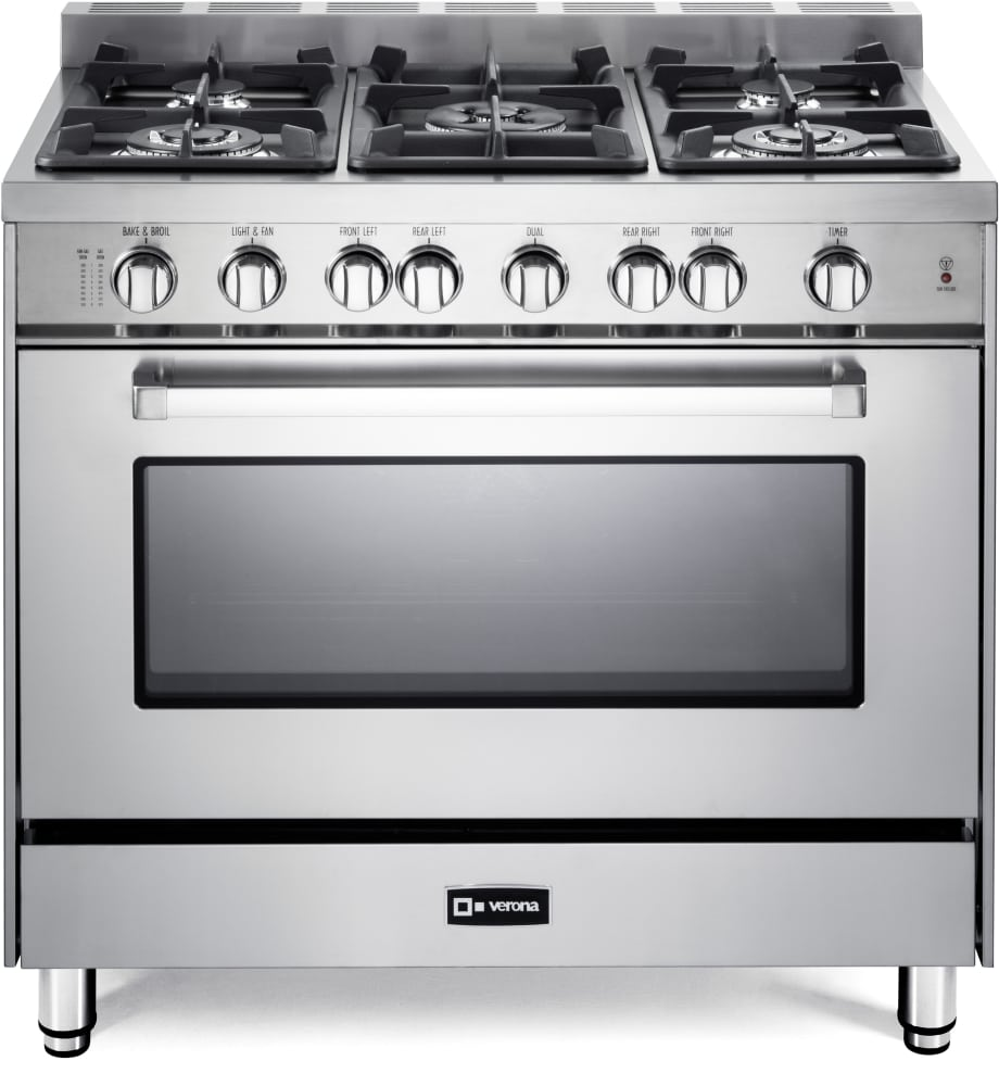 Verona Vefsgg365nss 36 Inch Pro Style Gas Range With Turbo Electric