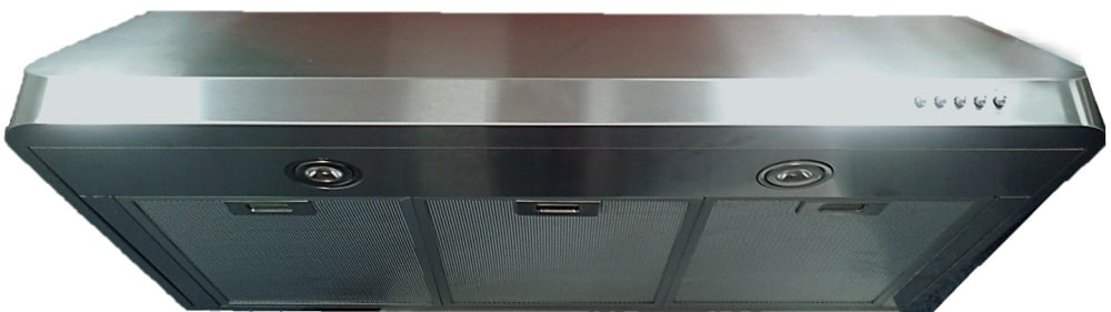 Verona Vehood3610 36 Inch Under Cabinet Range Hood With 3 Speed 600 Cfm Blower Push Button Controls Led Lighting Dishwasher Safe Mesh Filters Rounded Seamless Edges Optional Recirculating Kit And 304 Stainless Steel