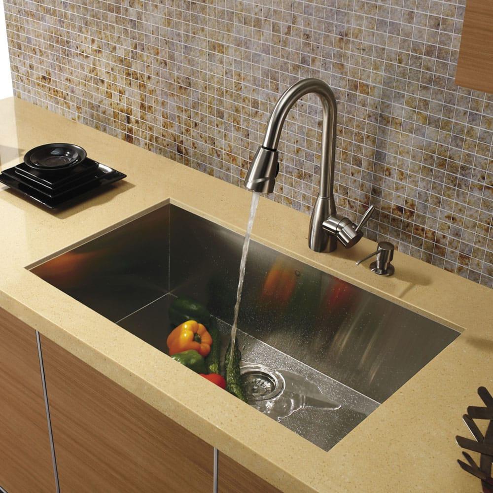 Vigo industries vg02014st single lever pull down faucet for Ajmadison