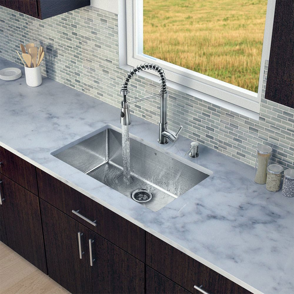 Vigo Industries VG15250 30 Inch All-in-One Undermount Kitchen Sink ...