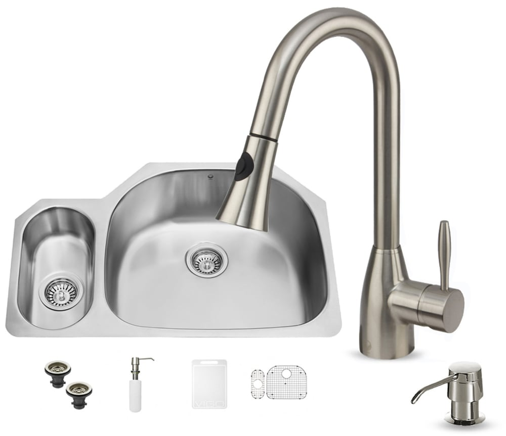 Vigo industries vg15328 32 inch undermount stainless steel - 18 inch kitchen sink ...