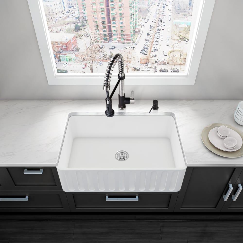 ... Vigo Industries Kitchen Sink Collection VGRA3018CS   Lifestyle View