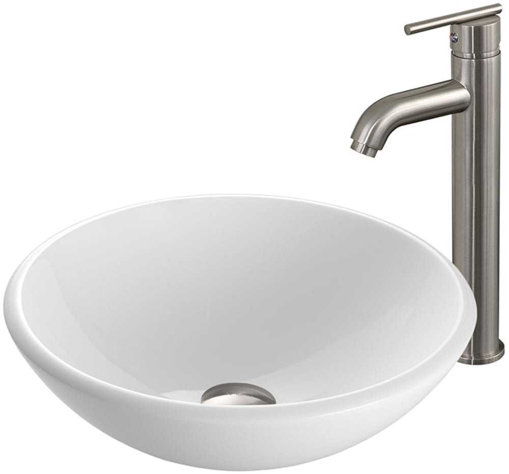 Vigo Industries Vgt203 Single Lever Waterfall Vessel Sink And Faucet With 2 2 Gpm Flow Rate