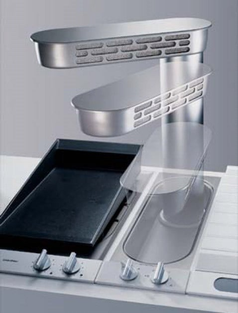 Stove Ventilation Systems : Gaggenau vl inch downdraft ventilation system with