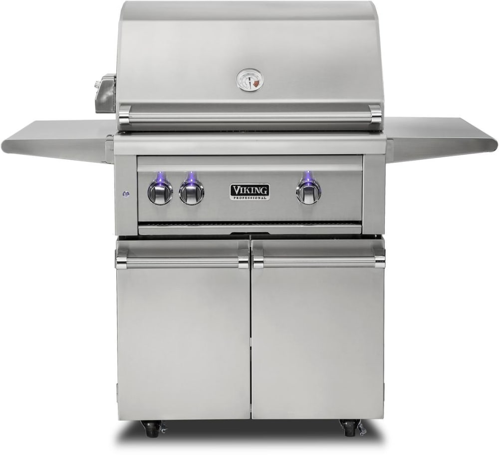 Viking vqgfs5300nss 30 inch freestanding grill with for Viking professional outdoor grill