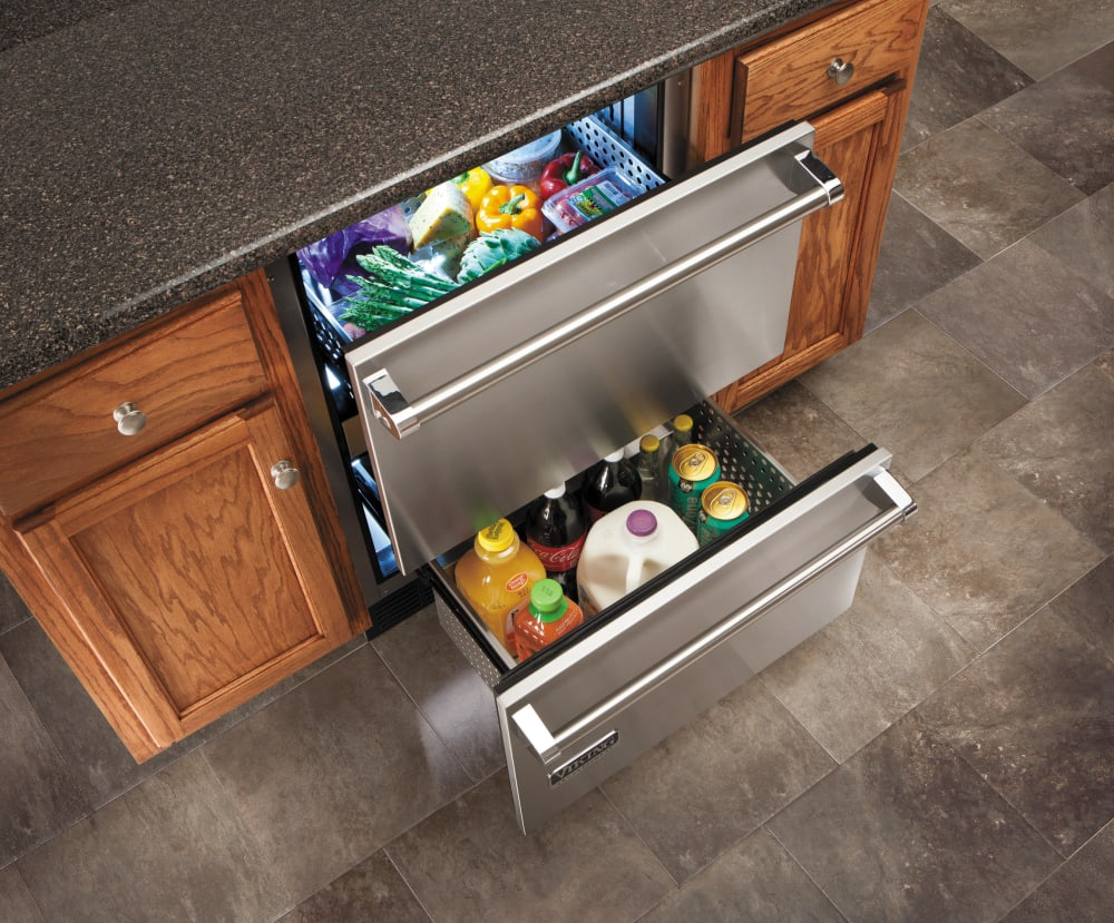 Viking Vrdi5240dss 24 Inch Undercounter Double Drawer