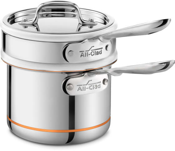 All Clad 62025ss 2 Quart Copper Core Sauce Pan And