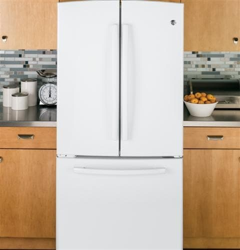 Ge Gns23gghww 33 Inch French Door Refrigerator With 22 7