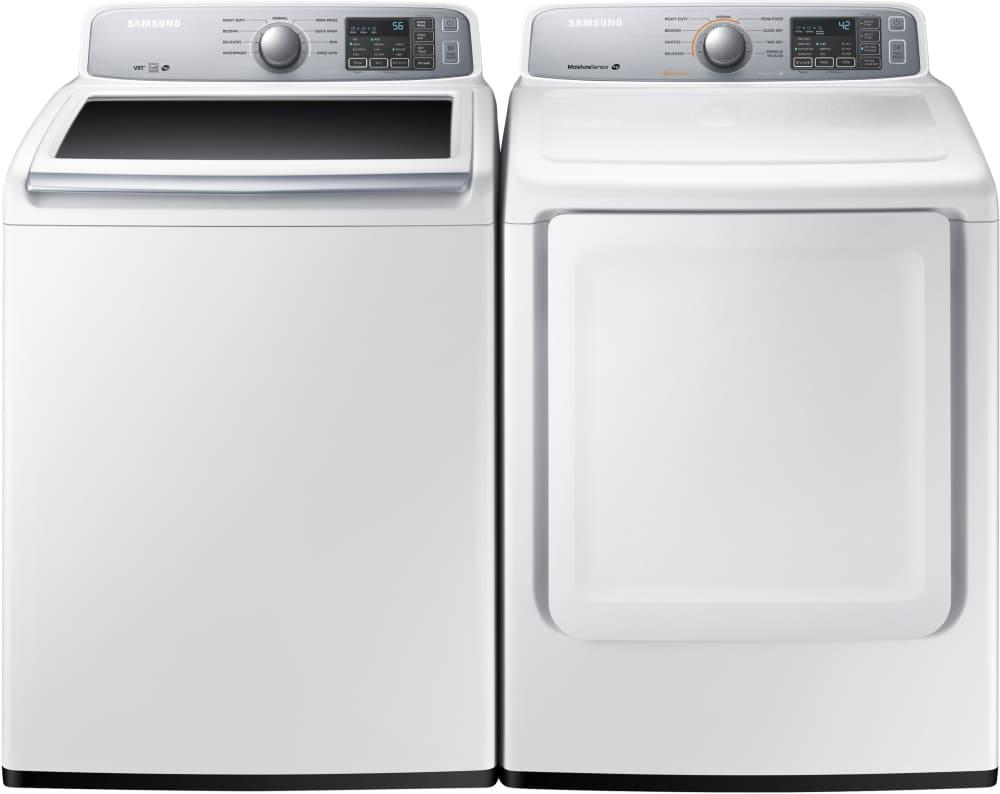 Samsung Dv45h7000gw 27 Inch 7 4 Cu Ft Gas Dryer With 9