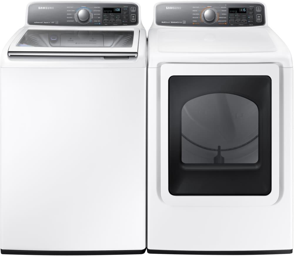 samsung dv48j7700gw shown with matching washer