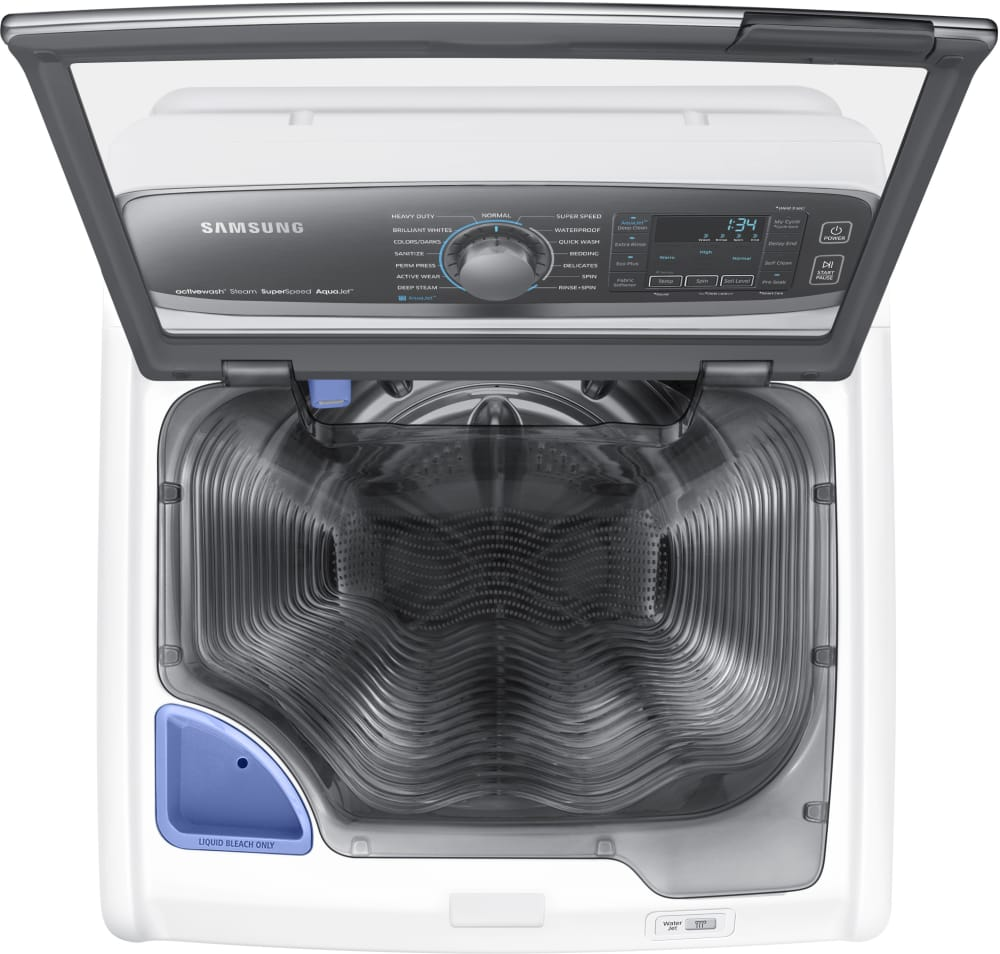 Samsung Wa52j8700aw 27 Inch 5 2 Cu Ft Top Load Washer