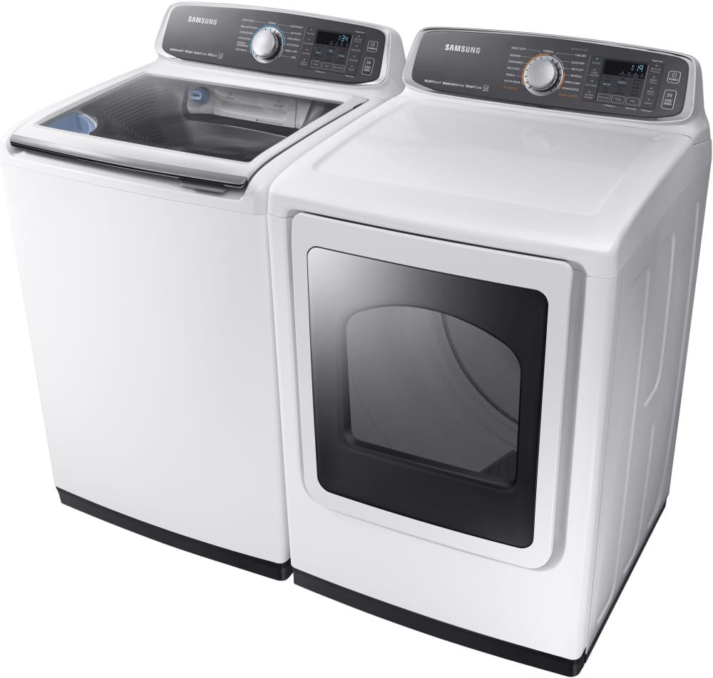 samsung dve52m7750w shown with matching washer