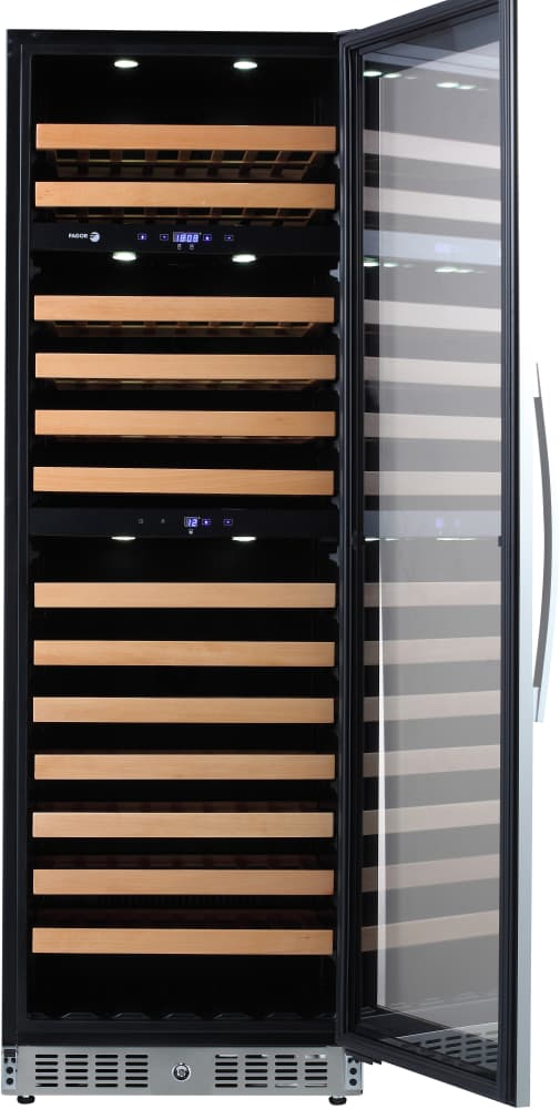 Fagor Wc118tz 24 Inch Tower Wine Cooler With 118 Bottle