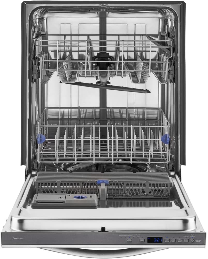 Whirlpool Wdt780saem Fully Integrated Dishwasher With 5 Wash Cycles 2 Racks And In Door Silverware Basket