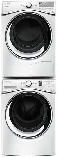 Whirlpool Wed99hedw Shown Stacked With Matching Dryer