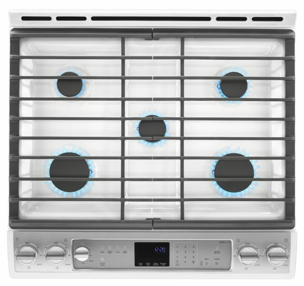 Whirlpool 5 burner gas range -  Whirlpool Weg760h0dh Five 5 Cooktop Burner With The Front Two 2