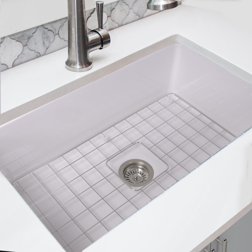 Nantucket Sinks WELLFLEET3218W 32 Inch Undermount Fireclay Kitchen ...