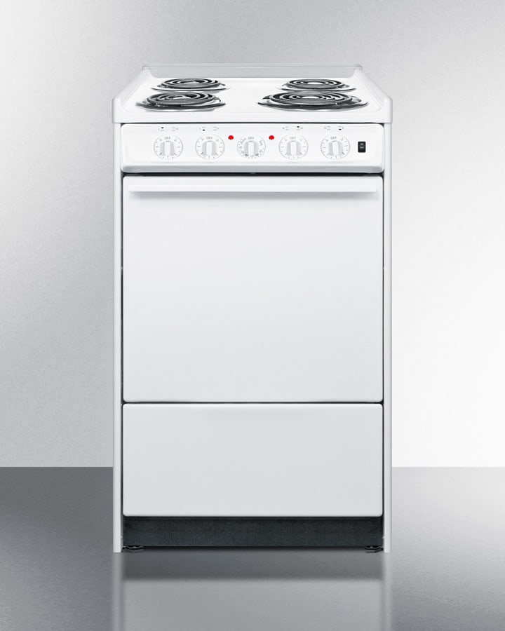 Summit Wem110r 20 Inch Slide In Electric Range With Four