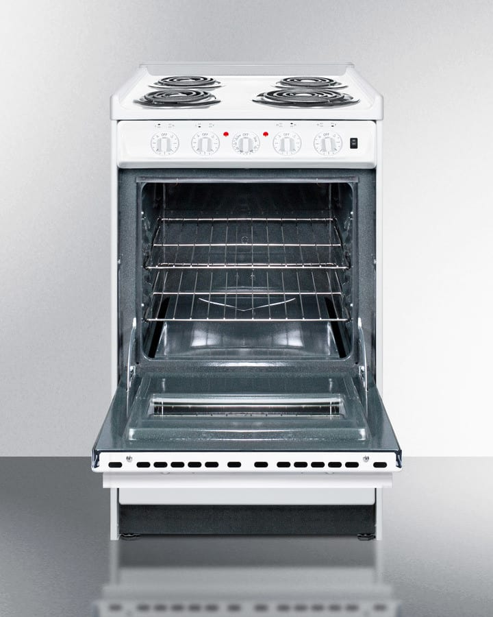 Summit Wem110rw 20 Inch Slide In Electric Range With Oven