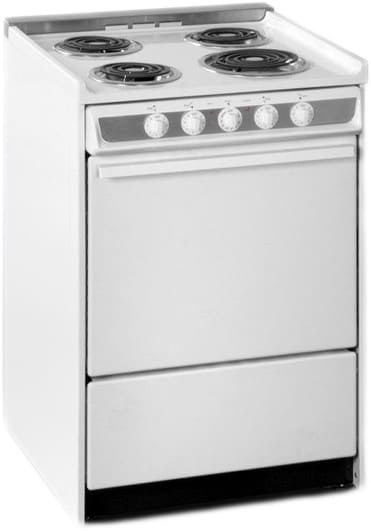 Summit Wem619r 24 Inch Slide In Electric Range With 4 Coil