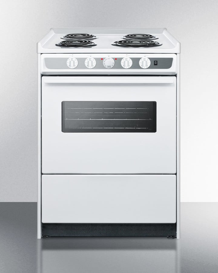 Summit Wem619rw 24 Inch Slide In Electric Range With 2 92