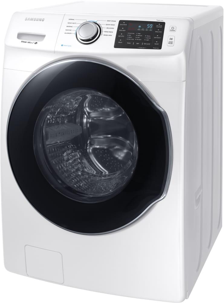 samsung front load washer. samsung wf45m5500aw - front-load washer with steam from front load