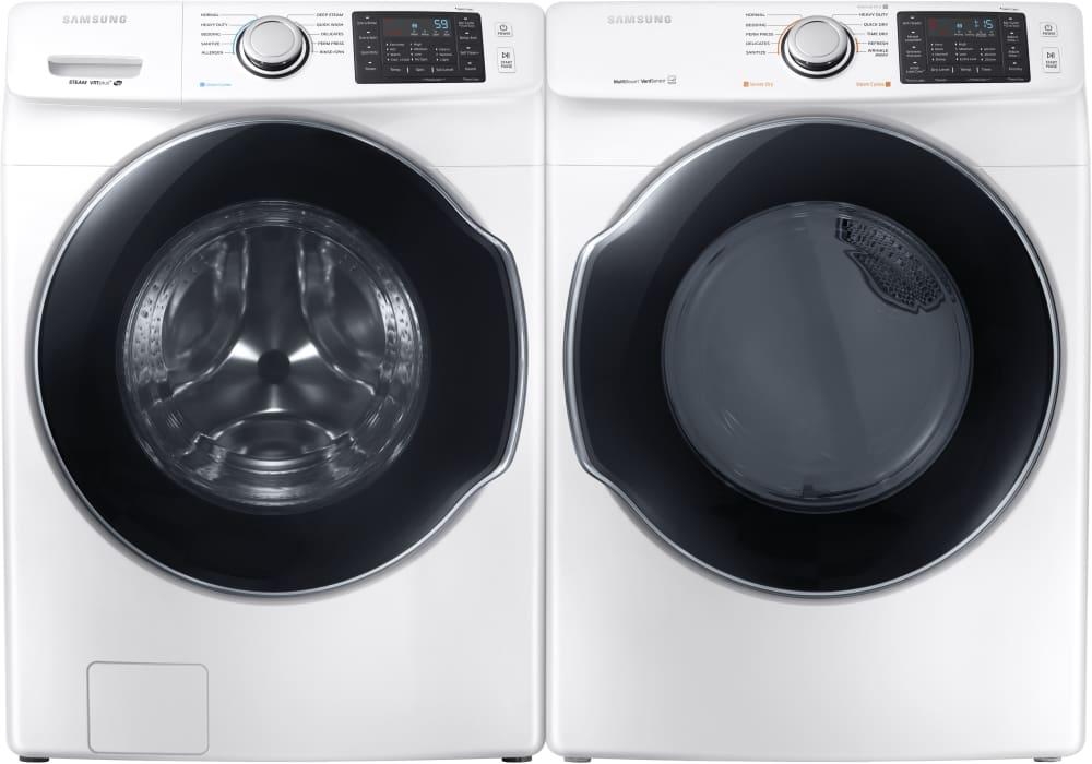 Samsung Dvg45m5500w 27 Inch Gas Dryer With Multi Steam