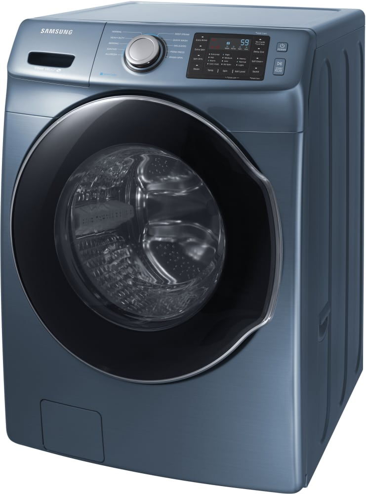 samsung wf45m5500az 27 inch front load washer with steam self clean cycle smart care 10 wash. Black Bedroom Furniture Sets. Home Design Ideas